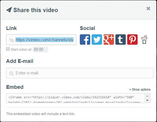 vimeo - share